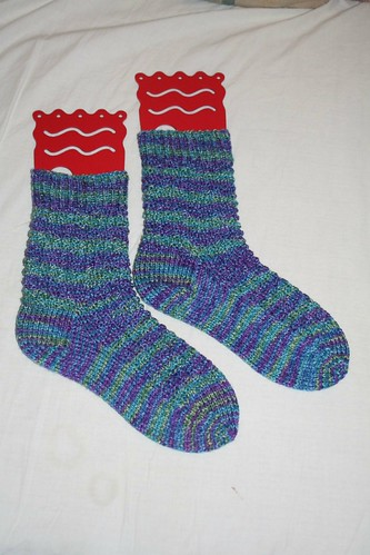 Moss Stitch Socks