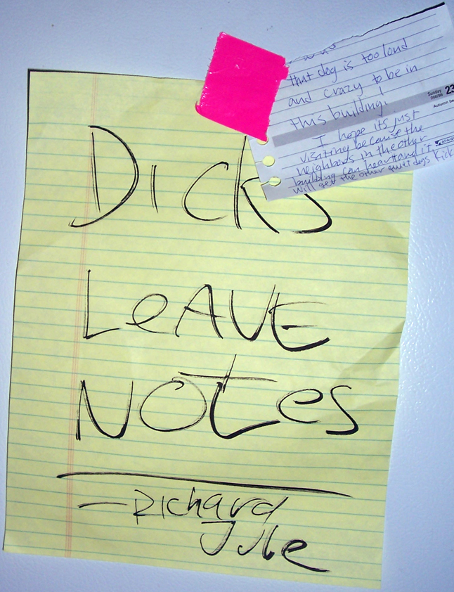 DICKS LEAVE NOTES