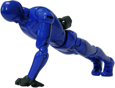 Action Hero Pro does 200 one-armed push-ups