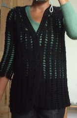 crochet wrap cardigan progress