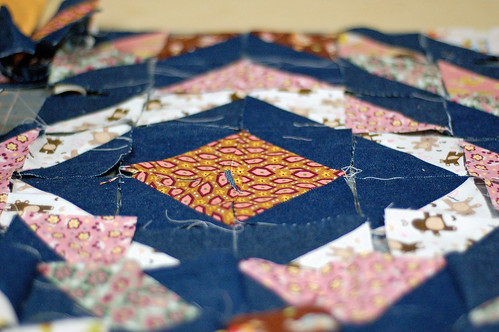 WIP-Doll quilt
