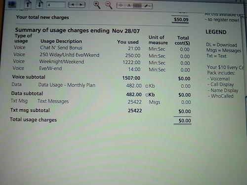 My Rogers Wireless bill