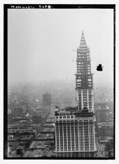 Woolworth Bldg.  (LOC) (The Library of Congress) Tags: new york city nyc newyorkcity blackandwhite bw ny newyork building tower architecture skyscraper construction skyscrapers crane manhattan terracotta steel broadway woolworth highrise gilbert libraryofcongress underconstruction cass lowermanhattan highrises woolworthbuilding steelframe cassgilbert nationalhistoriclandmark nationalregisterofhistoricplaces nationalhistoricmonument cathedralofcommerce xmlns:dc=httppurlorgdcelements11 233broadway dc:identifier=httphdllocgovlocpnpggbain10570 badosa:obra=n067