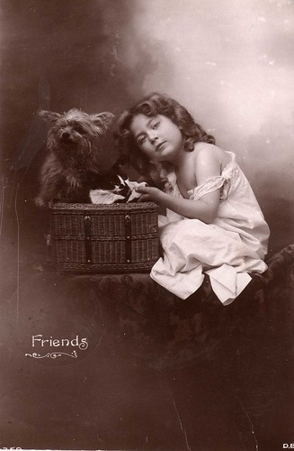 Vintage Postcard ~ Friends by chicks57.