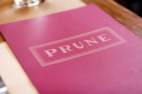 Prune menu