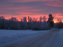 Christmas sunrise (Solinde) Tags: winter snow dalarna idre christmas2007 foskros