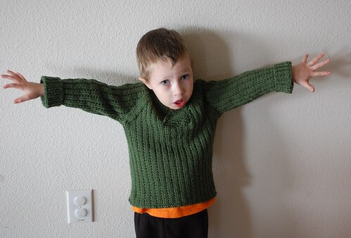 Max's vestee sweater from Knitty