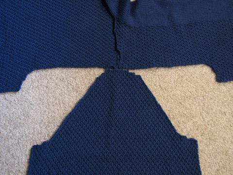 Minimalist Cardi sleeve fitting