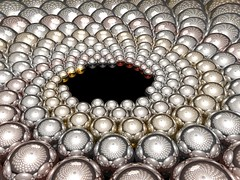Metal Doyle Spiral (fdecomite) Tags: color reflection spiral sphere math doyle povray imagej