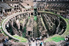 Coliseum or Flavian Amphitheater, Rome (6) (pjink11) Tags: italy rome film europe forum 1998 coliseum