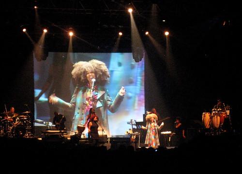 Erykah Badu in Tel Aviv / Ray-V Live Visuals
