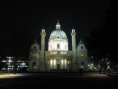 Karlskirche at night