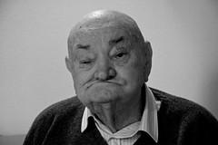 Istanti di mio nonno Giuseppe (1) (bellimarco) Tags: old white man black canon hand grandfather potrait bianco ritratto nero nonno vecchio anziano rughe ruga 40d