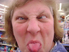 Crazy lady in Wal-Mart. (Missy13d69) Tags: family silly nerd face tongue retail lady mom nose store insane crazy eyes funny geek mommy mother nuts walmart odd mum customer loopy weirdo dork mad looney nutty daft wacky flaky cuckoo dingy touched zany kooky batty screwy mental bonkers dopey dippy unbalanced