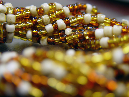 beads of amber and white (3/17)