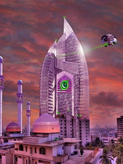 The New Lahore Skycity Pakistani Starfleet Headquarters (perfectlymadebirds) Tags: travel pakistan art speed star drive robot high ship tech space ufo aliens gravity desi pakistani starfleet spaceship planetary hyper anti intergalactic naan ufos punjabi galactic pathan salwar spaceage kameez awesom dhol pathans dast perfectlymadebirds zabber