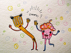 Golden Spatula & Pink Cupcake go out for beers!