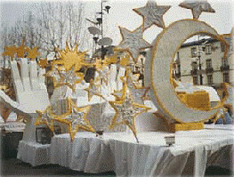 Carroza carnaval Grecia