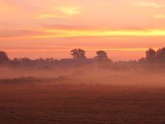 NH farm at sunrise