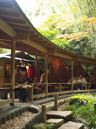 報国寺の休憩所