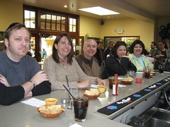 The gang at the El Palomar taco bar. (12/31/2007)