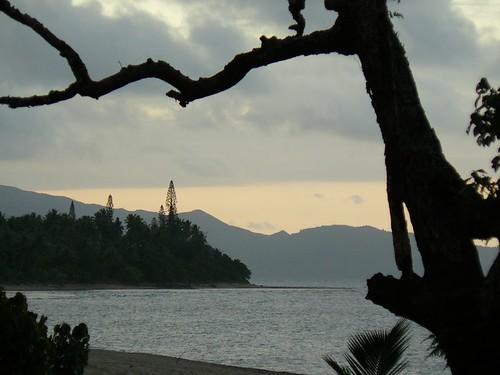 plage de Poindimie au sunset