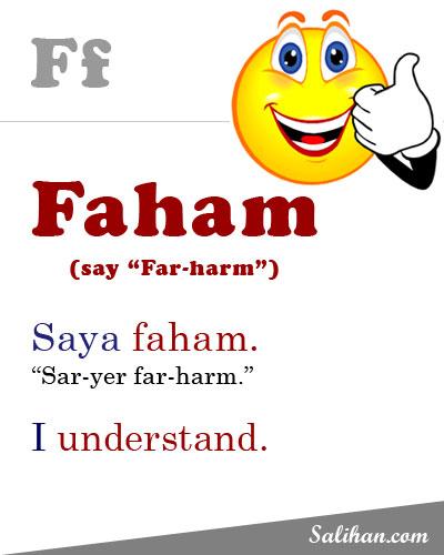 F=Faham