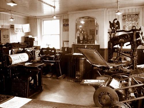 Print Room Beamish by David Masters.