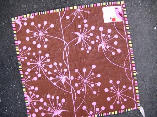 Spring quilt back