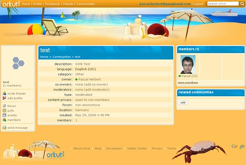 orkut theme - beach