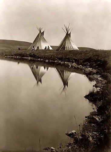 Tipis on the water