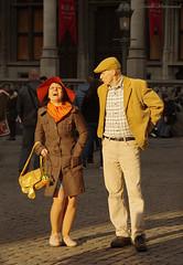 Portrait (Natali Antonovich) Tags: portrait sweetbrussels brussels belgium belgique belgie mood smile couple pair grandplace lovestory romance hatisalwaysfashionable hat hats lifestyle tradition rose flower