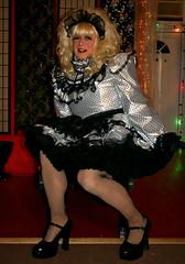 Taffeta maid (jensatin4242) Tags: sissy maid crossdresser transvestite sissymaid jensatin fishnets petticoats