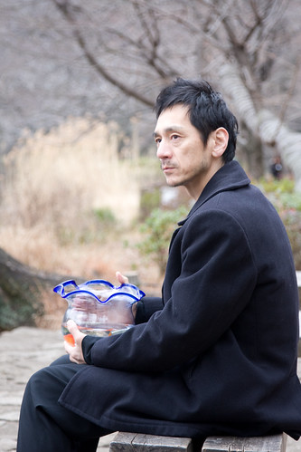 The Man (Takao Kawaguchi) is deep in contemplation