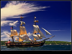 HMS Bounty (Dave the Haligonian) Tags: ocean canada coast boat marine sailing ship novascotia er vessel atlantic east explore maritime shit sail tallship halifax frontpage hmsbounty imean dsc0109 copyrightallrightsreserved davidsaunders davethehaligonian tallshipsfestival2009 tallshiptuesday