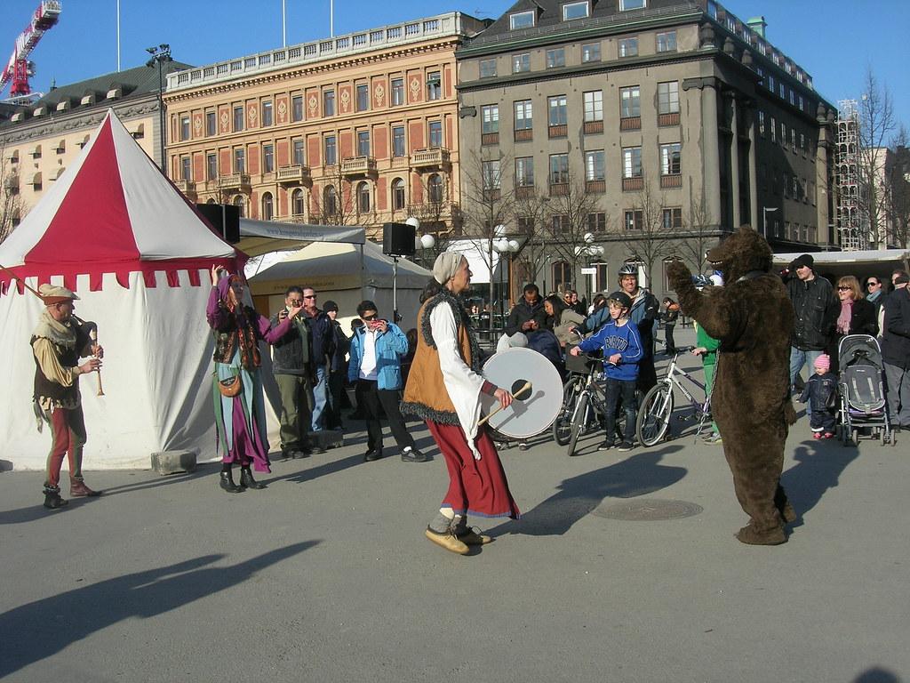 Medieval market in Stockholm, 2010 Apr - 12