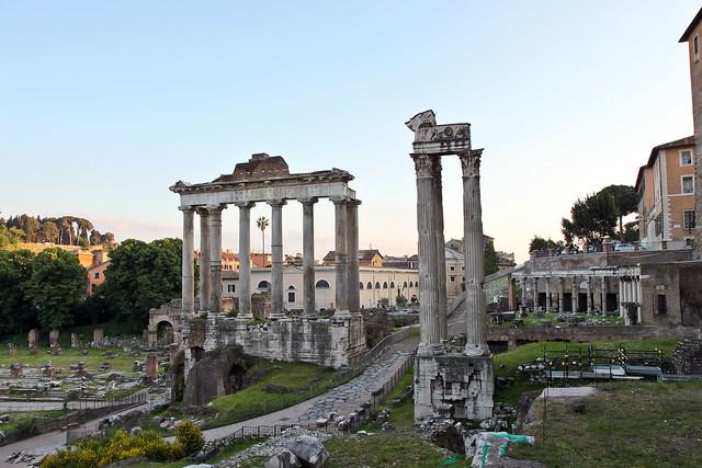 Rome. Le Forum Romain | Tempio di Saturno
