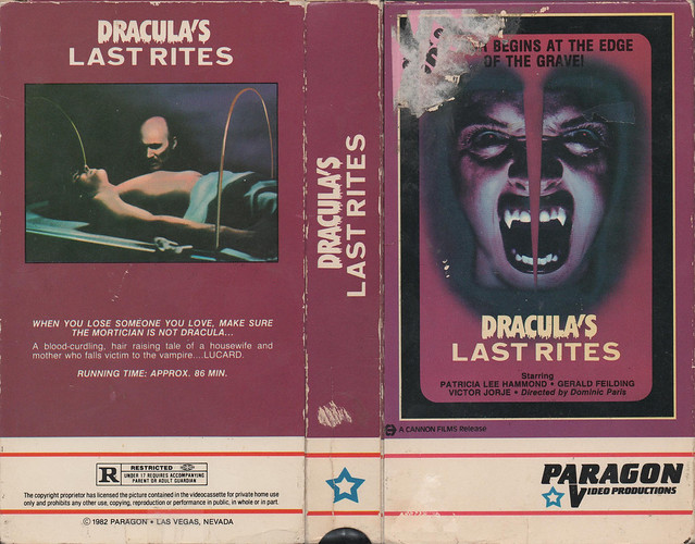 Dracula's Last Rites (VHS Box Art)