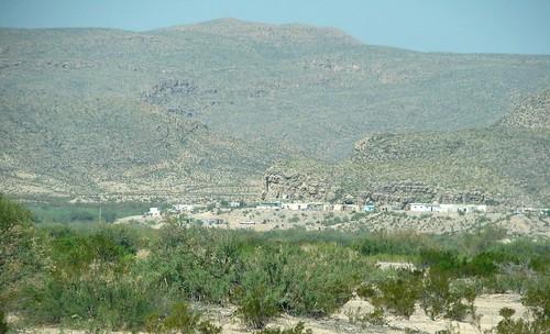 Vista de la comunidad de Boquillas del Carmen, en Ocampo, Coahuila.