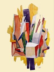Dessin abstrait (aquarelle)