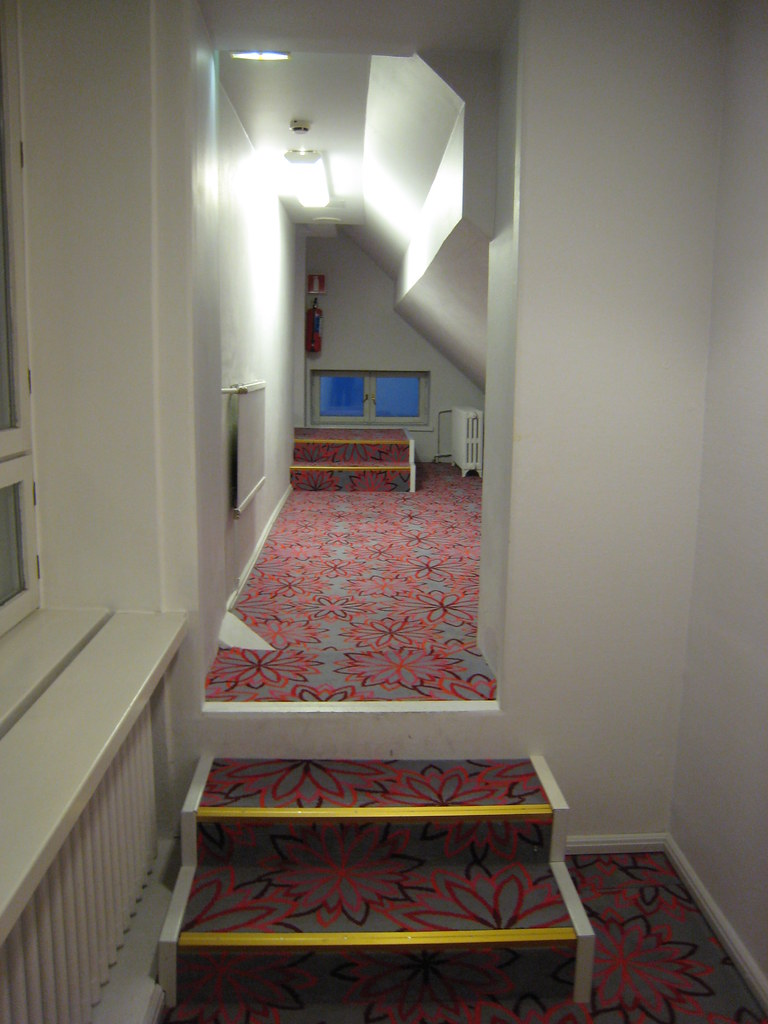 A corridor out of my hotel room