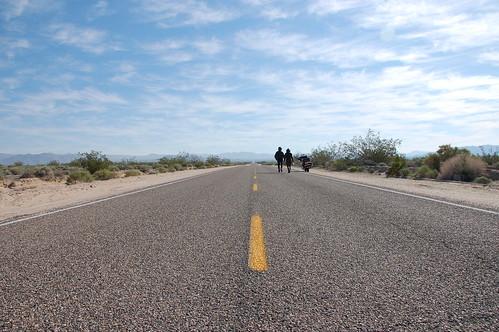 Carretera  en Mojave
