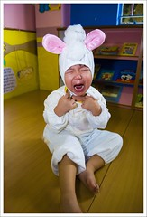 "^_^'"" (yaw yong xin) Tags: cute kids children james costume tears sad crying cry tearing rabbitcostume nikonstunninggallery 1755mmf28d"