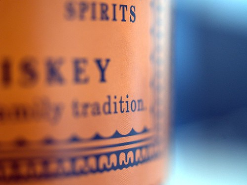Details of a Whiskey Bottle