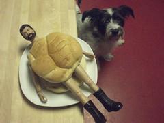 Sloppy Joe (8 Skeins of Danger) Tags: dog dinner gijoe for is joe what bun gi adventurer fuzzhead adventureteam fuzzyhead 8skeinsofdanger