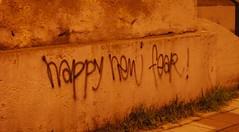 no fear (andreas n) Tags: christmas wall happy fear year newyear wishes newyearseve wish 2008 happynewyear