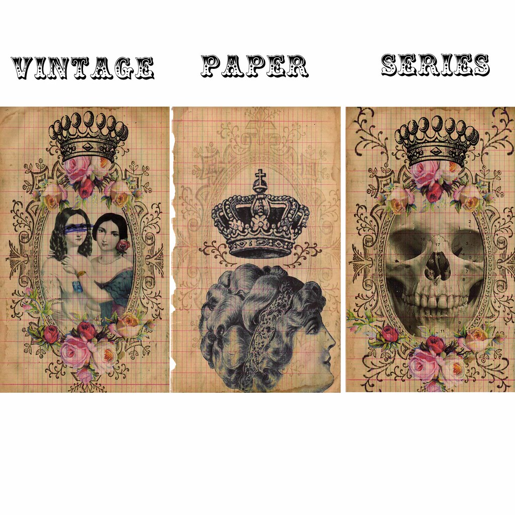 1194c0fb875 Vintage Paper Collage Series (ms mod) Tags  old roses collage digital  photoshop vintage paper