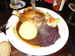 Schweinehaxen, Munich traditional dish (-bLy-) Tags: dinner munich cuisine dish leg meat delicious pork steak munchen braised entree bratkartoffel