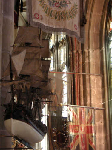 Ship in Canterbury Cathedral.