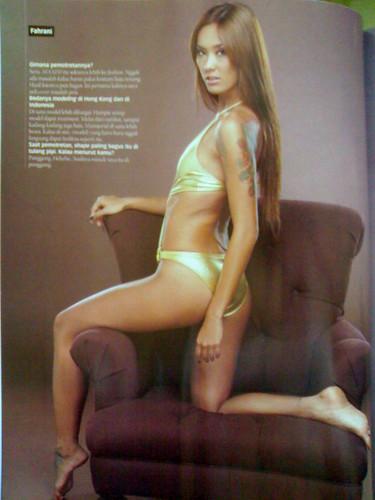 foto bugil fahrani di majalah Maxim 2008